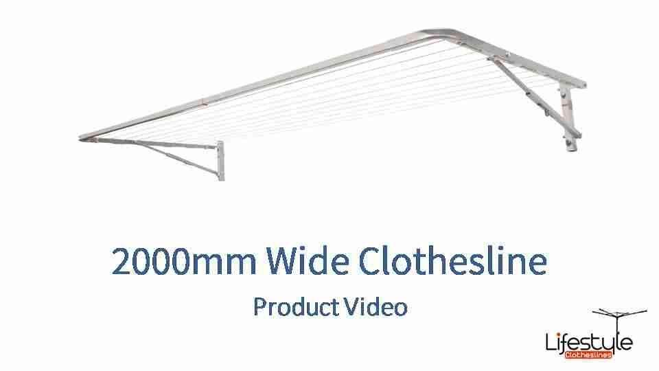 2000mm wide clothesline product link
