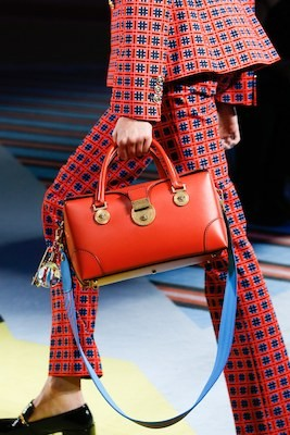 Red handbag Vogue