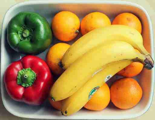 peppers oranges bananas fruits vegetables