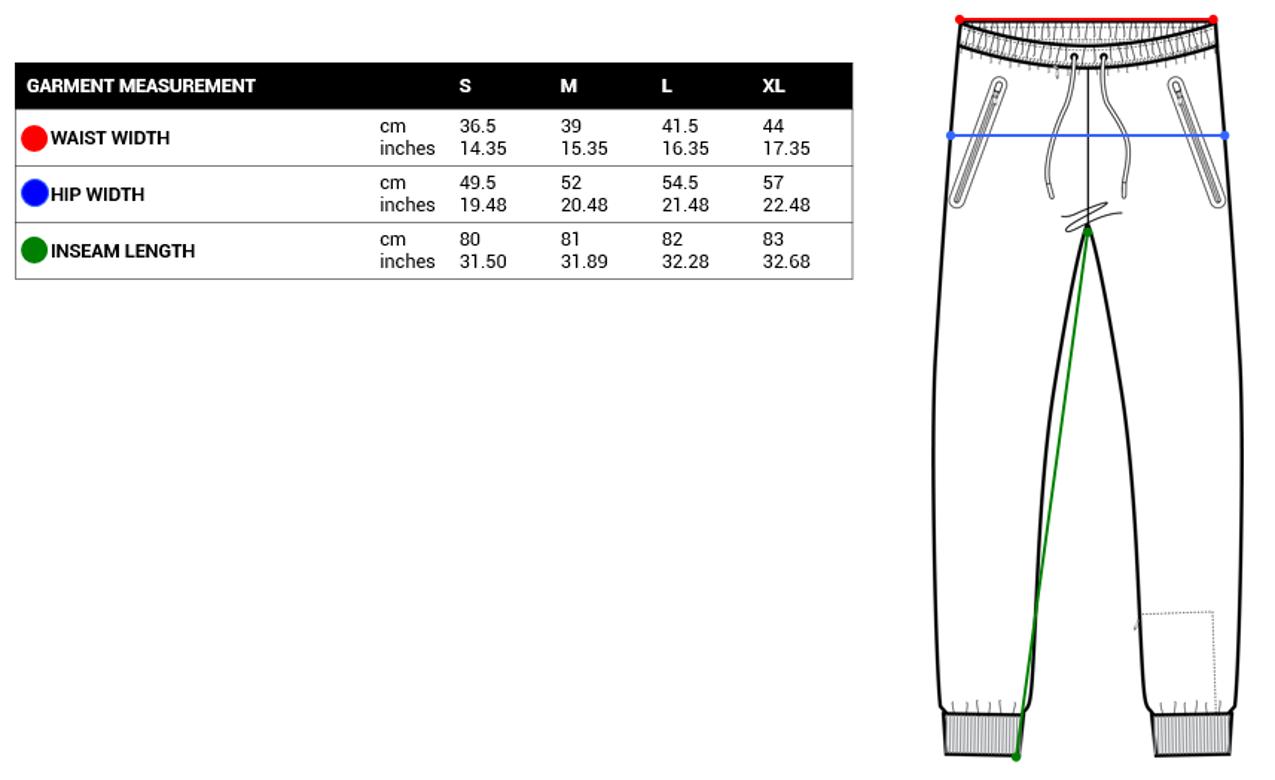 Pacsafe Mens Pants Size Chart