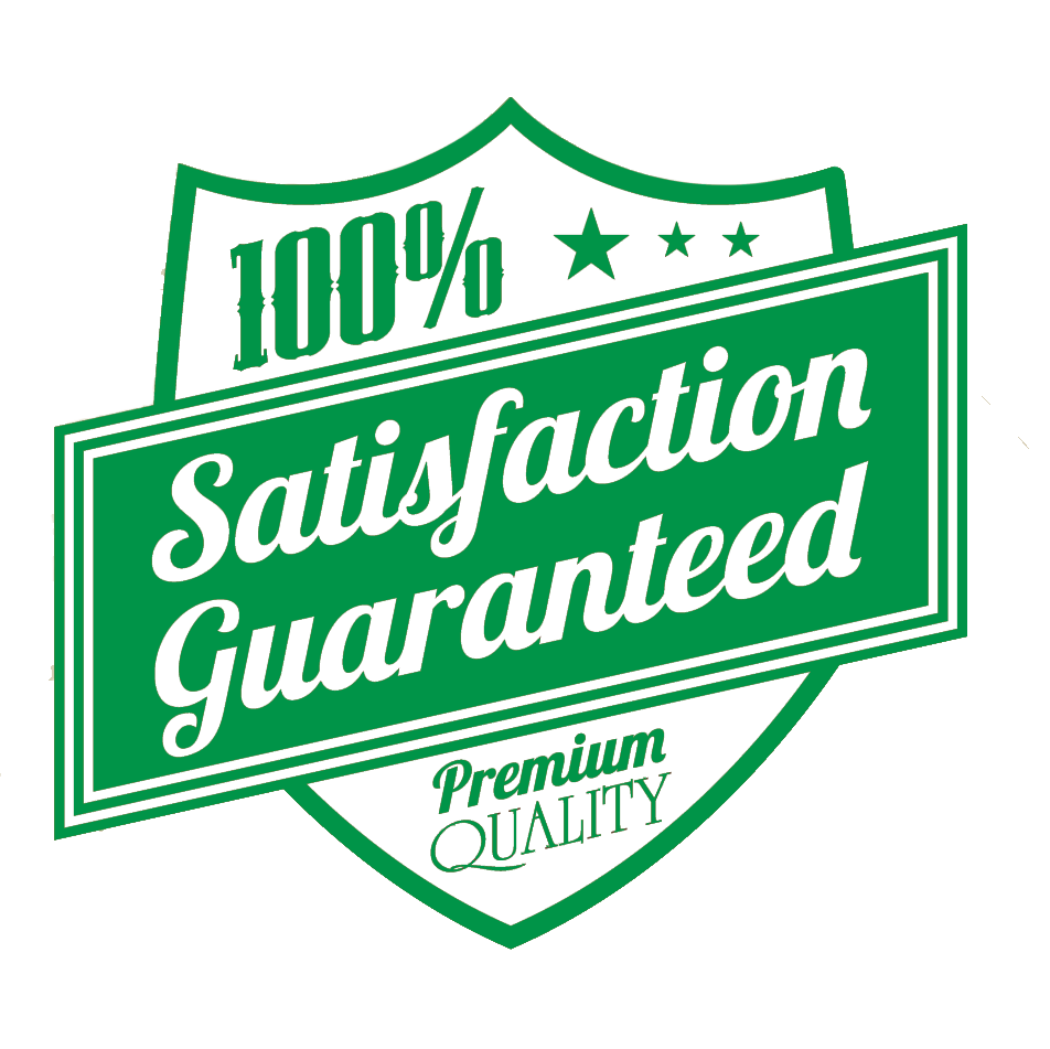 100% Satisfaction Guaranteed Badge Icon