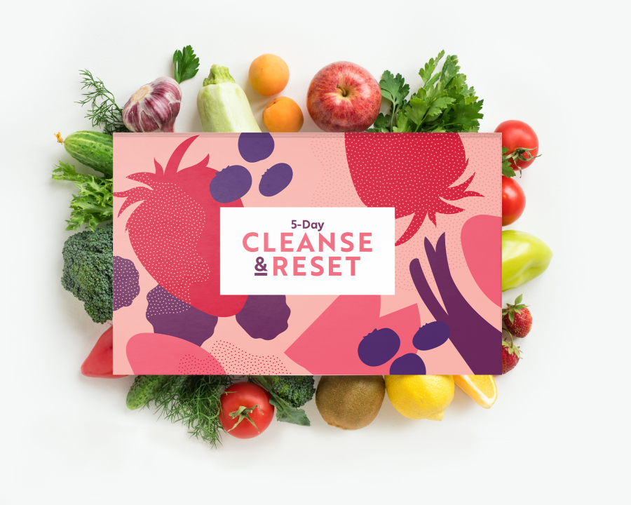 5-Day Cleanse and Reset box with fruits and vegetables