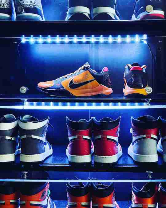 Bruce Lee Nike Kobe 5 on Display - Sneaker Throne