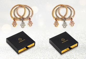 Cube Charms Silver Metal Bracelet