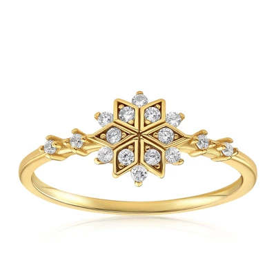 Sophia Snowflake Ring by Blush & Bar