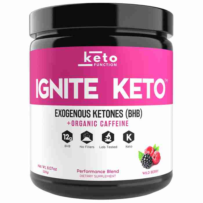 ignite keto best exogenous ketones bhb wild berry base