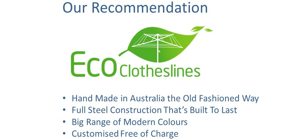 eco clotheslines are the recommended clothesline for 2.7m wall size