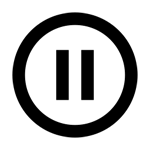 Icon pause button