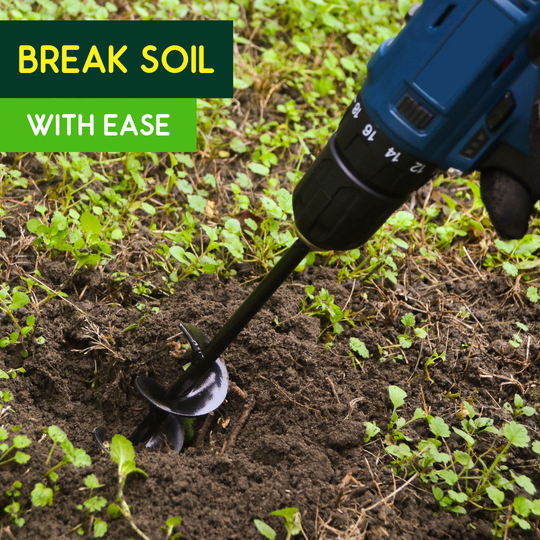 The Drill Planter will break any hard soil with ease.