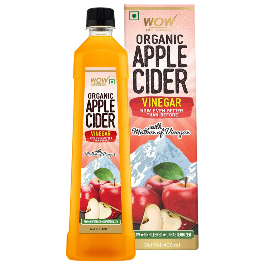 WOW Life Science Organic Apple Cider Vinegar - with strand of mother - not from concentrate