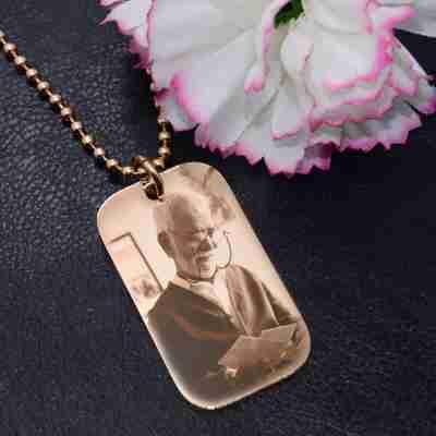 Custom Photo Dog Tag Necklace