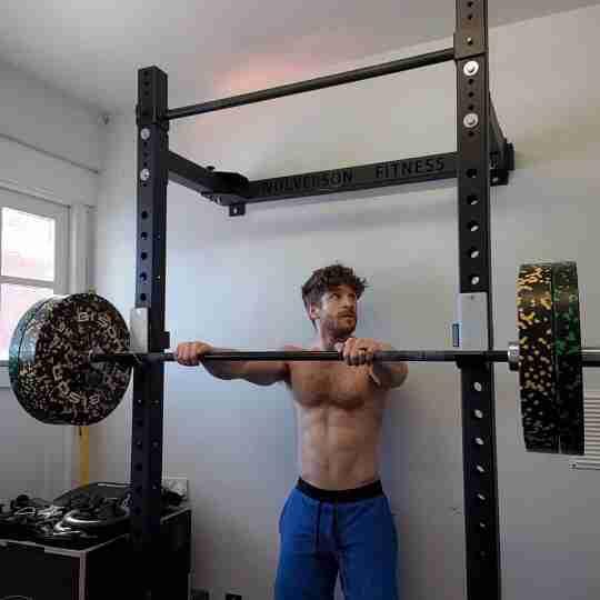 Home Gym Setup with Folding Rack