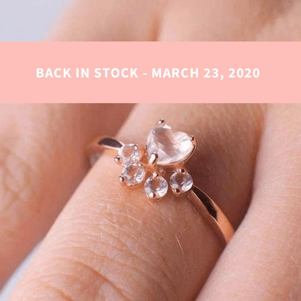 Bella Paw Rose Quartz Ring
