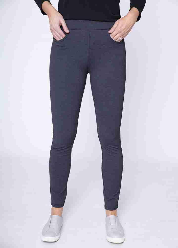 Stretch Waist Stud Pocket Trouser(Grey)