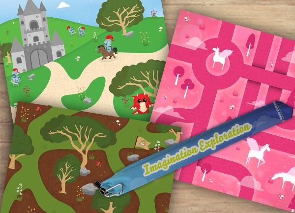 Imagination Exploration Playmats And Free Mat Bag