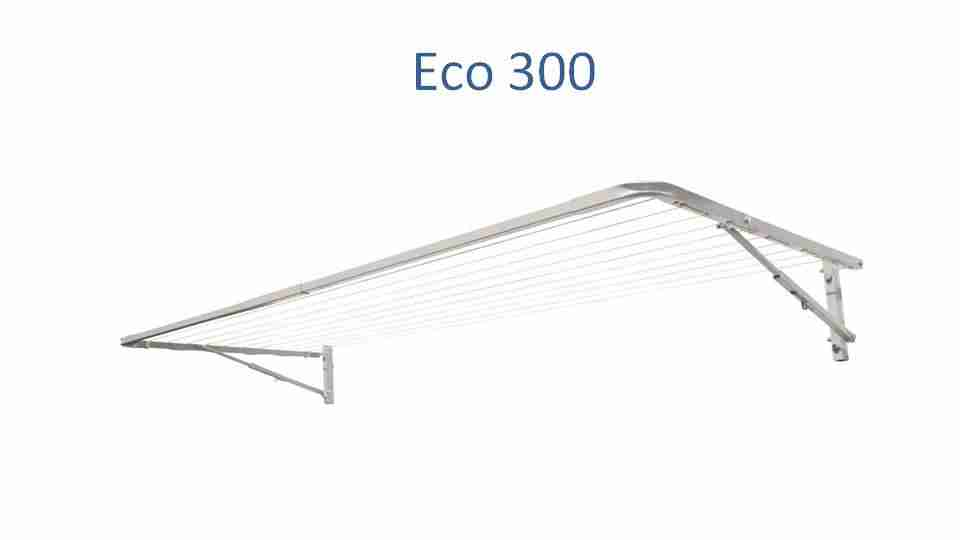 eco 300 2900mm wide clothesline front view