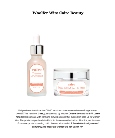 The Wolfer EMAIL | Caire Beauty