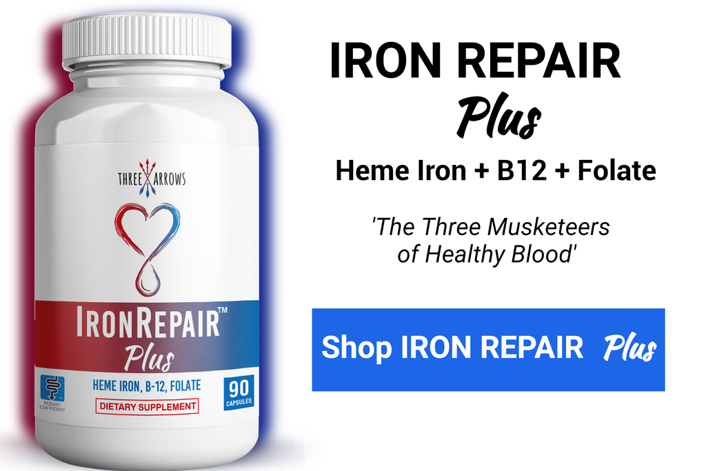 Three Arrows Iron Repair Heme Iron Supplement