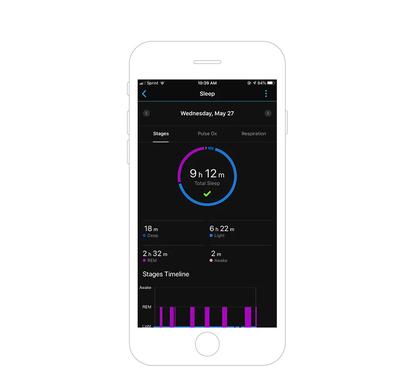 Garmin Connect App Advanced Sleep monitoring