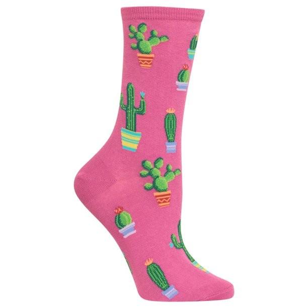 Gabby Maria Women's Potted Cactus Crew Socks