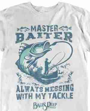 balls deep tackle funny fishing hats and shirts