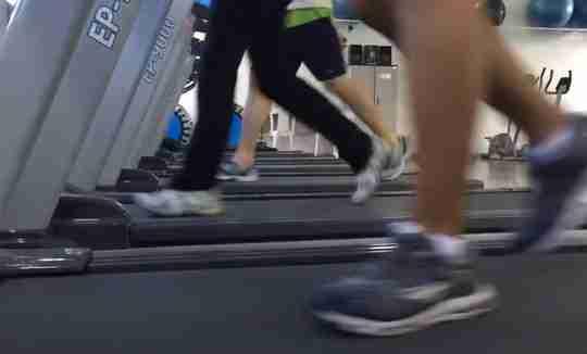 People Running on Treadmill Gym Fitness