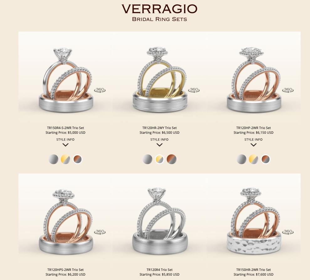 Verragio Bridal Ring Sets