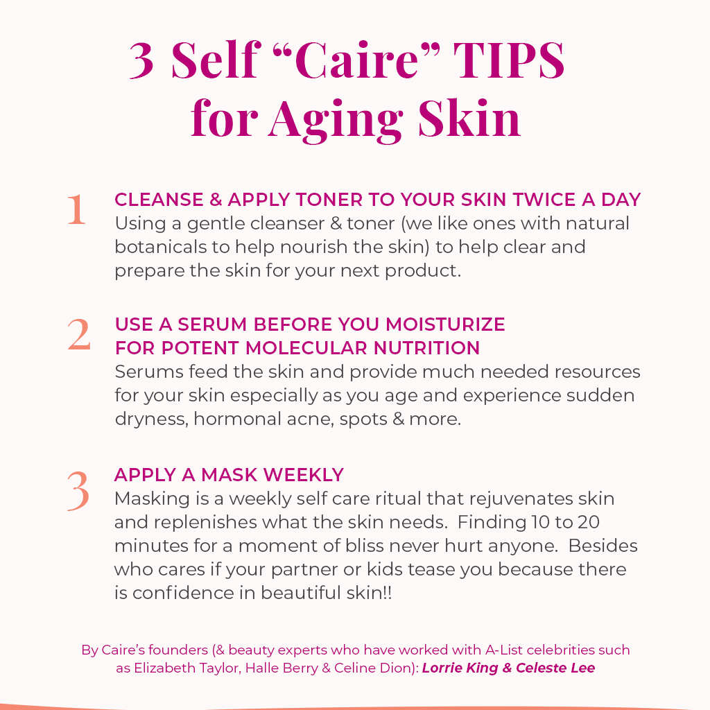3 Self Caire Tips for Aging Skin