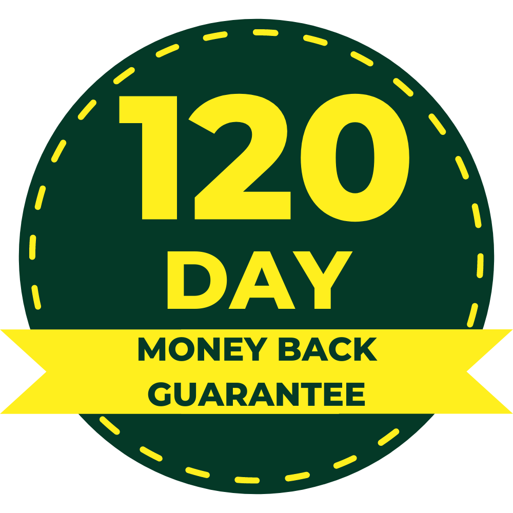 120 Day Double Money Back Guarantee