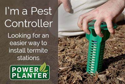 Pest Controller Range of Power Planters - Termite station installation