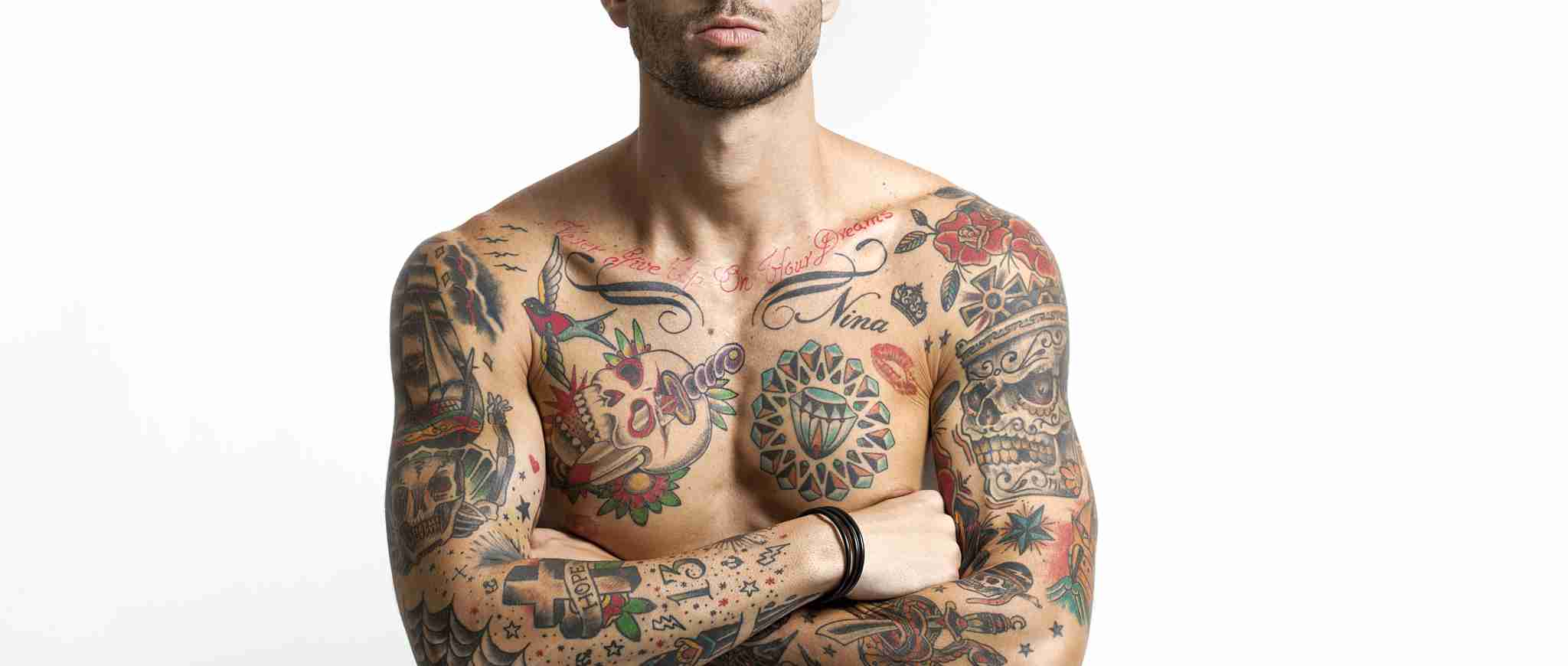 Inked Ritual tattooed male model