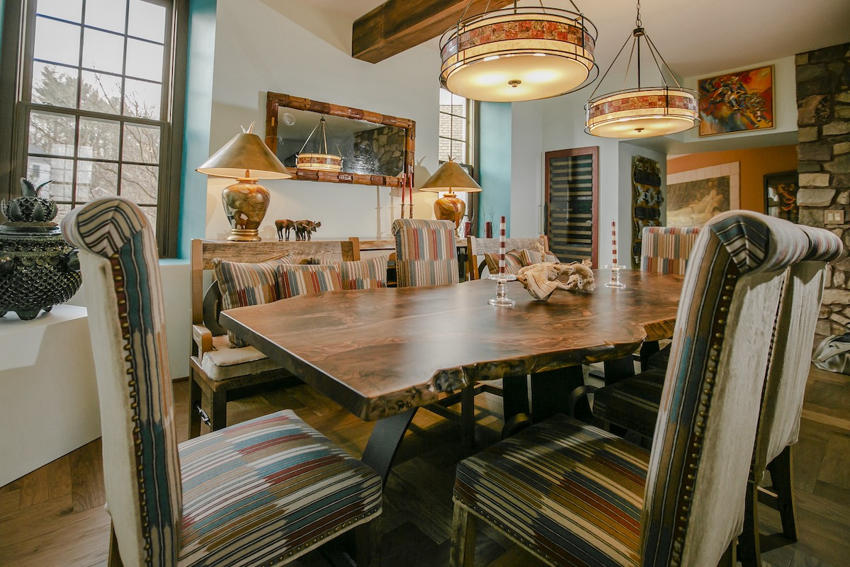 Santa Fe Inspired Rustic Dining Room
