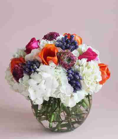 A vase filled with flowers