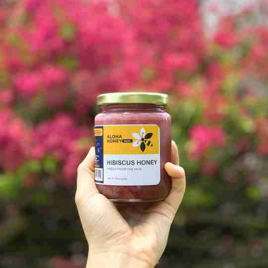 Raw Honey Infused with Hibiscus flowers