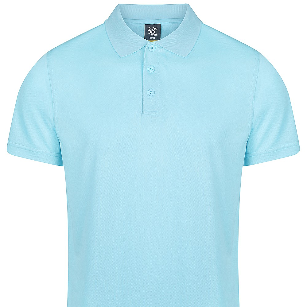 38 South Polo - Mens Cooldry Light Solid