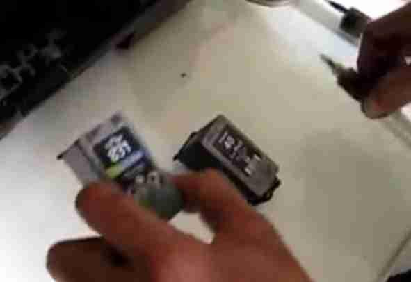 memasang cartridge
