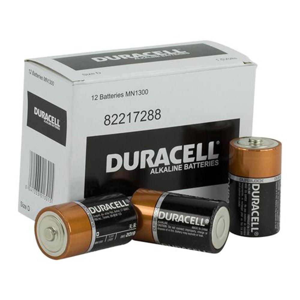 Duracell Coppertop D battery Bulk box of 12