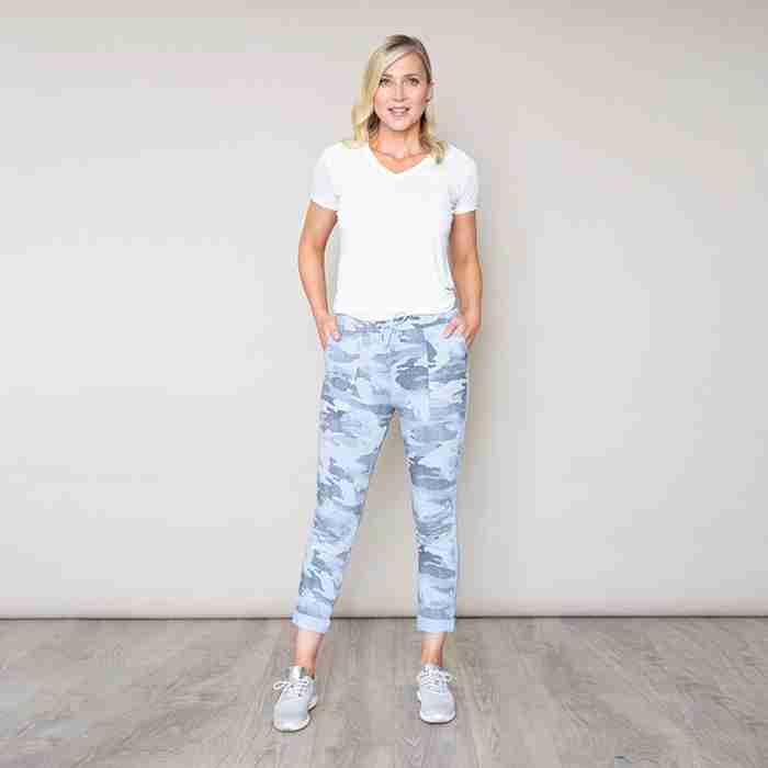 Military Style Jegging(Blue)