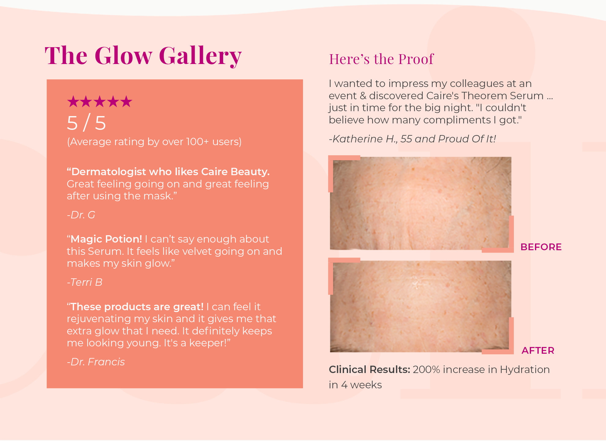 The Glow Gallery | Caire Beauty