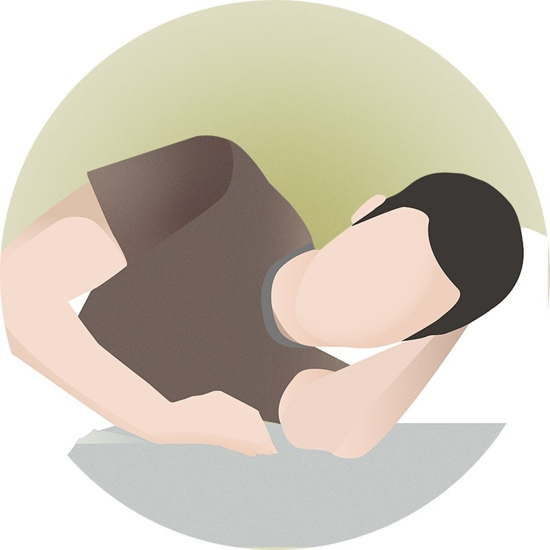 Sleeping on your side makes you snore less as compared to when sleeping on your back.