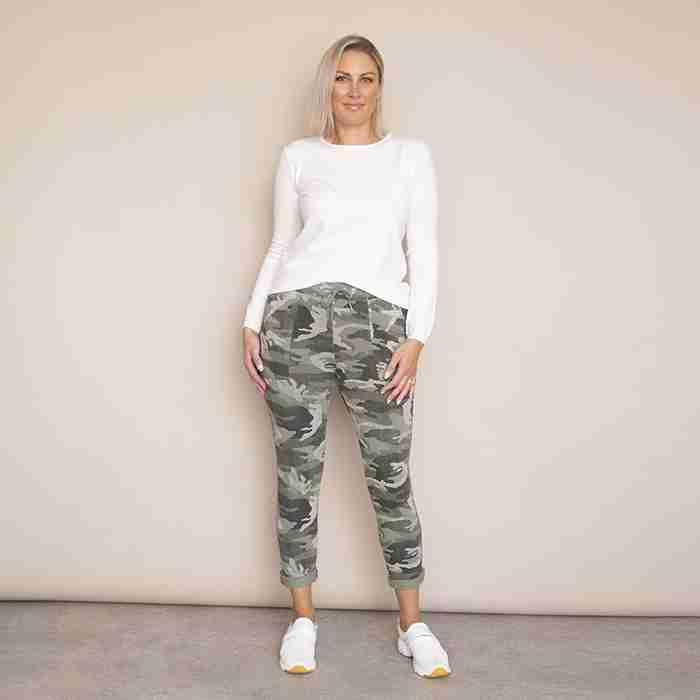 Sophie Joggers - Plus Size(Khaki)