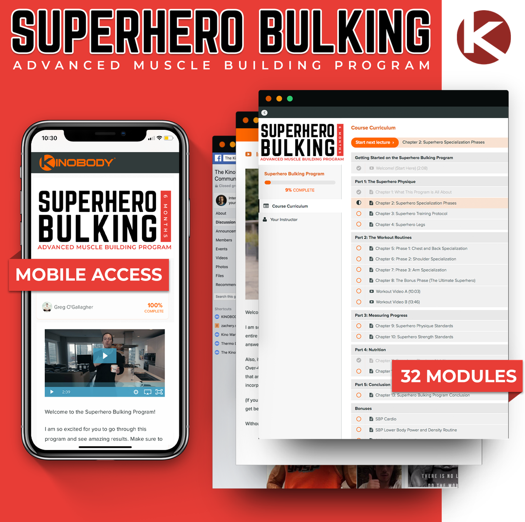 Superhero Bulking Program Example