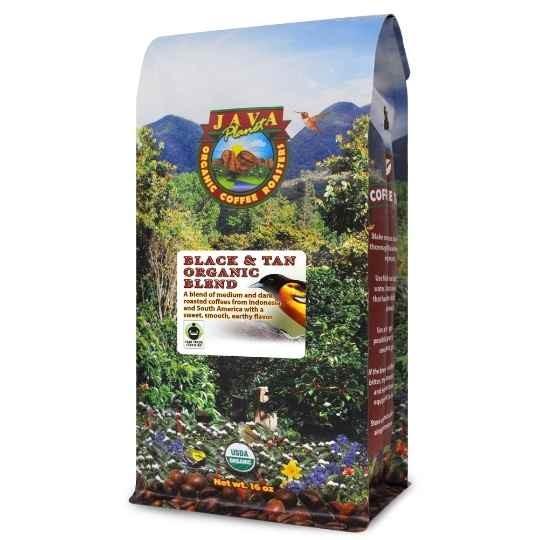 Black and Tan best Organic coffee Blend fair trade certified