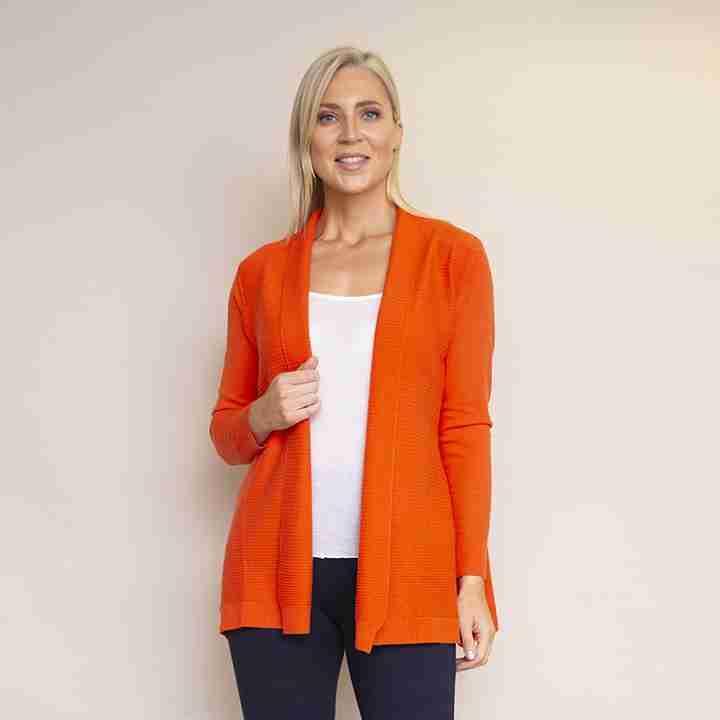 Roll Collar Cardi(Orange)
