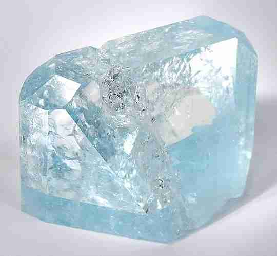A blue topaz mineral