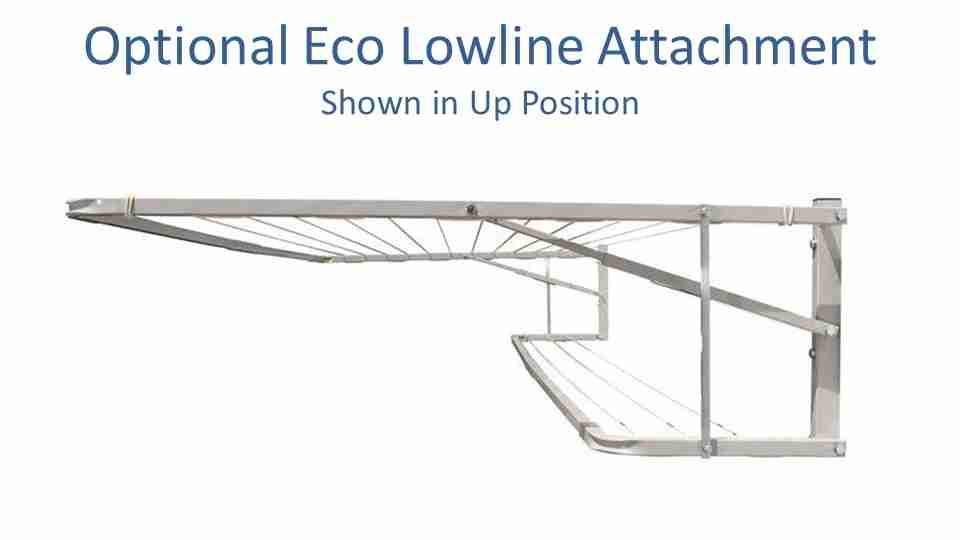 eco lowline line clothesline with the optional lowline attachment