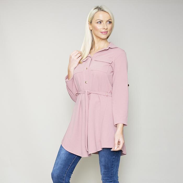 Poppy Gold Button Shirt (Pink)