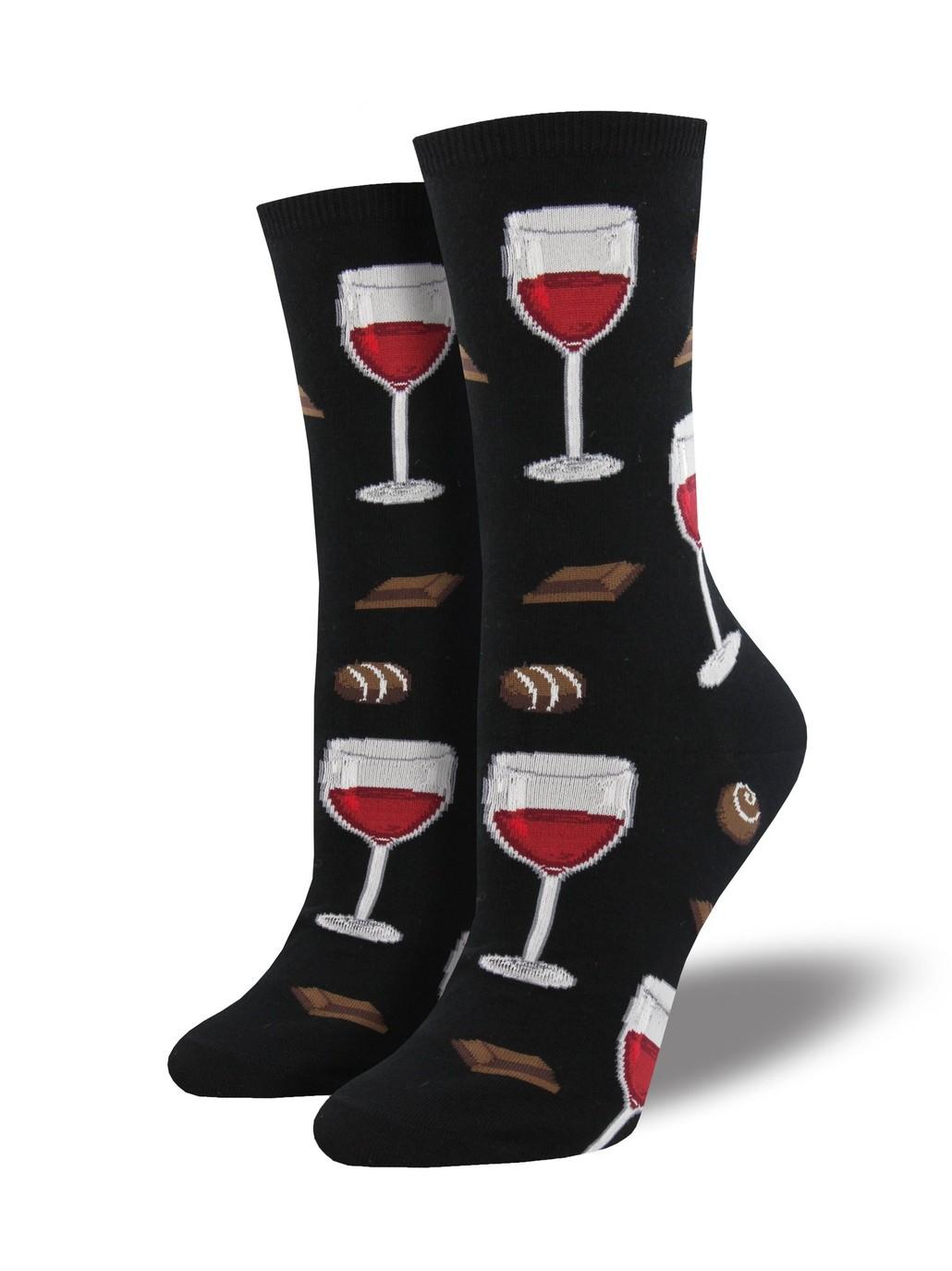 Gabby Maria Women's Time To Wine Down Crew Socks