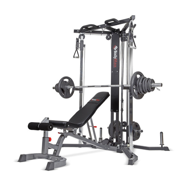 1 x cable Motion Trainer with bench & 140kg Olympic Set