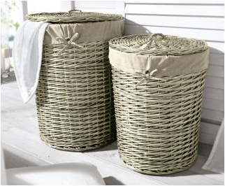 laundry basket with lid and cover